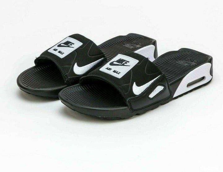 Nike Air Max 90 Black White Slide Sz 10