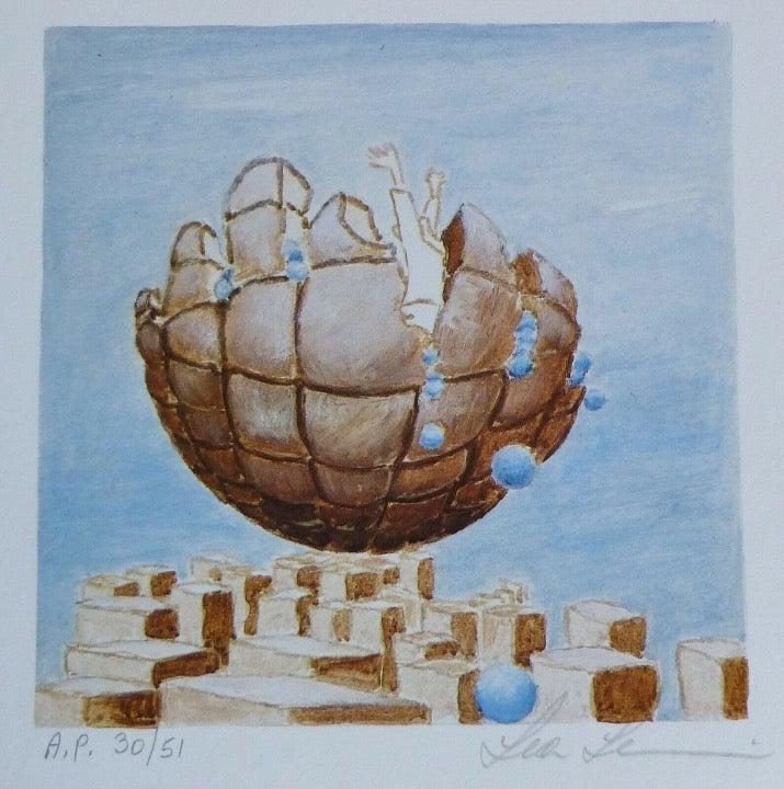 LEA LEVIN hand signed Israeli USA Art