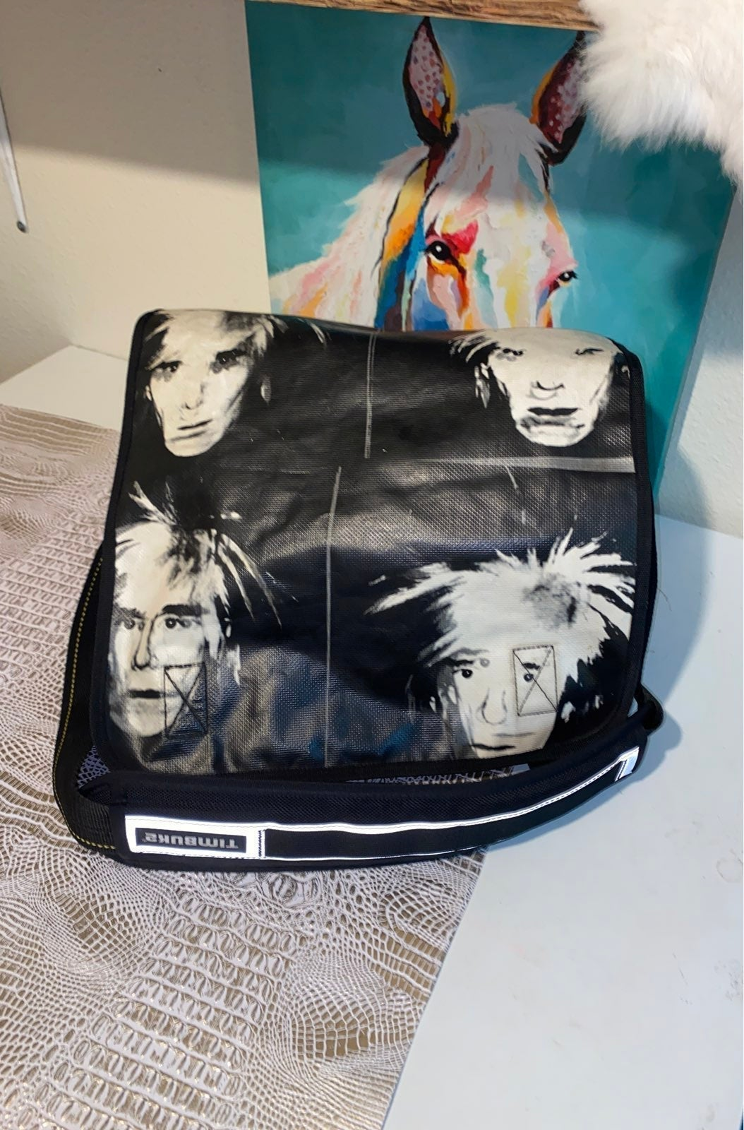 Andy Warhol Timbuk2 signature messenger