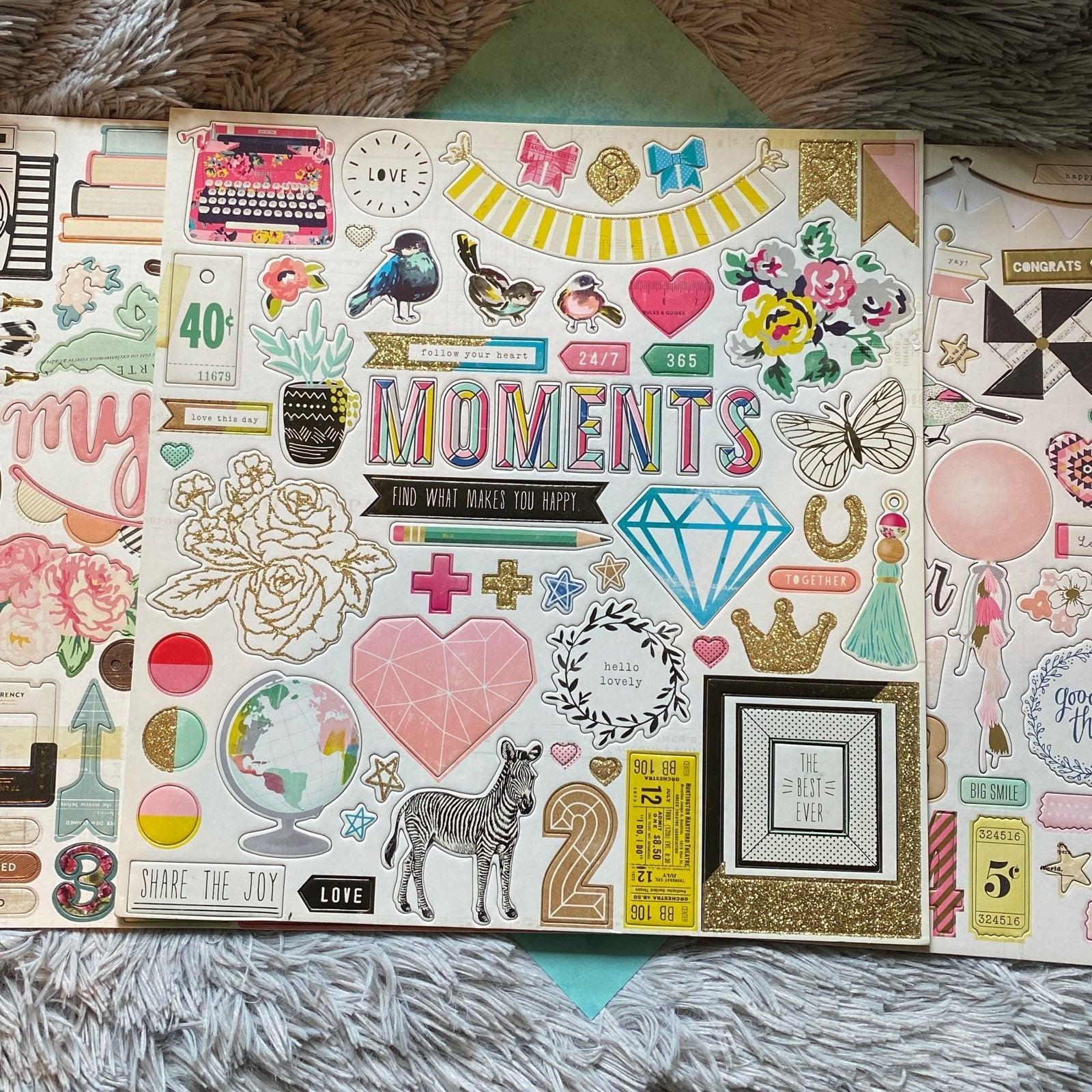 Crate paper chipboard stickers