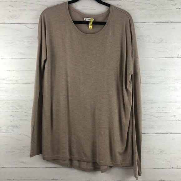 Vince Cashmere Blend Taupe Sweater