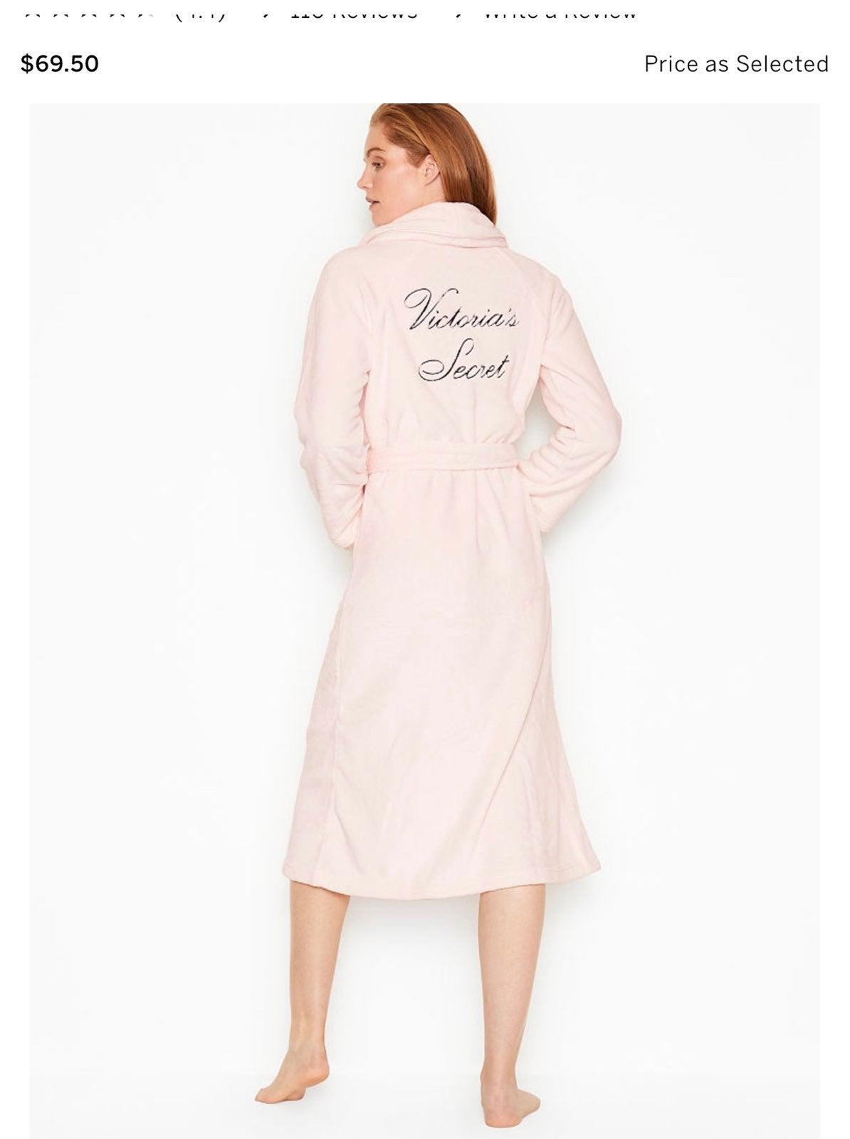 Victorias Secret Plush Pink Robe