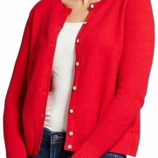 A new day Plus 4X Cardigan Red Button