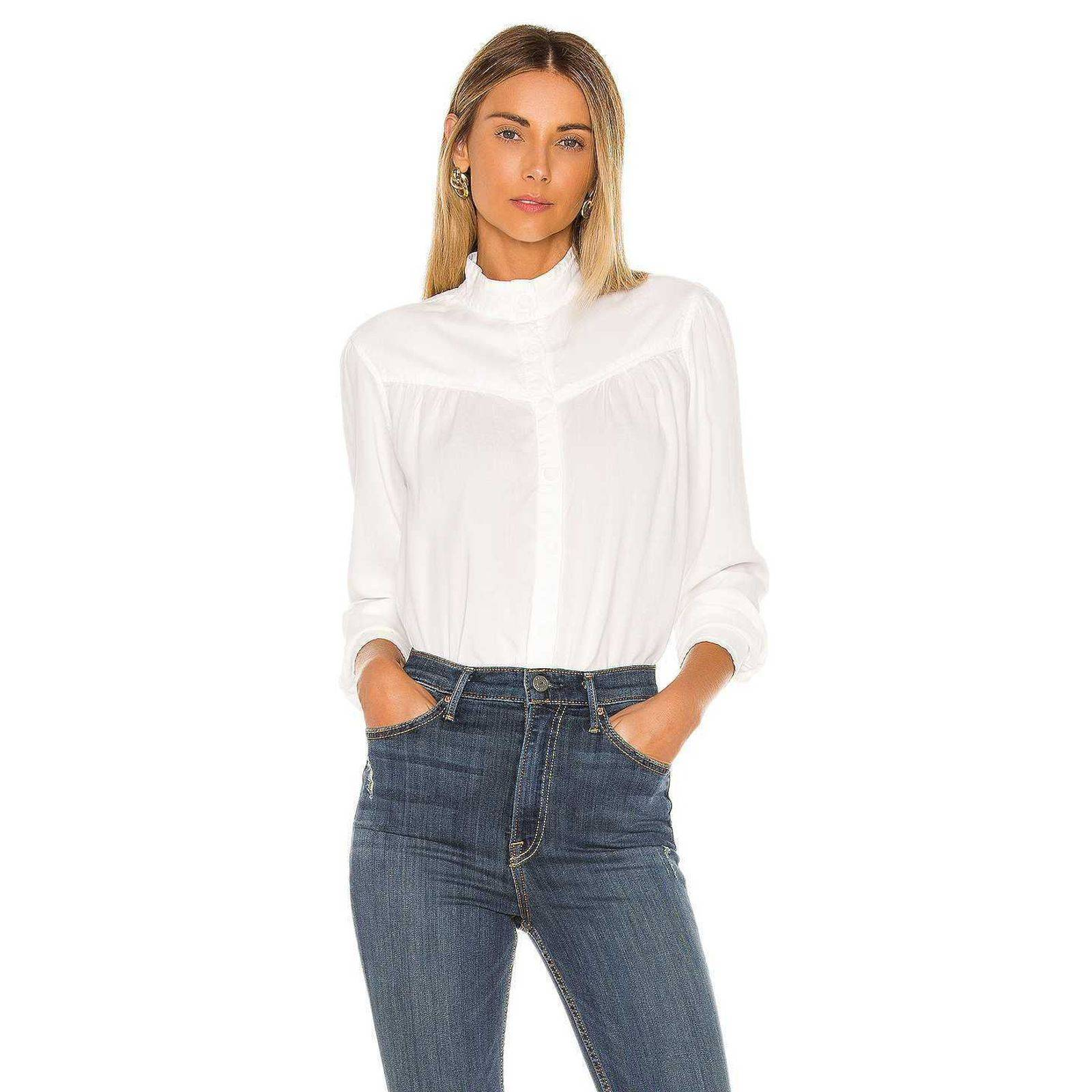 Bella Dahl Button Prairie Mock Blouse