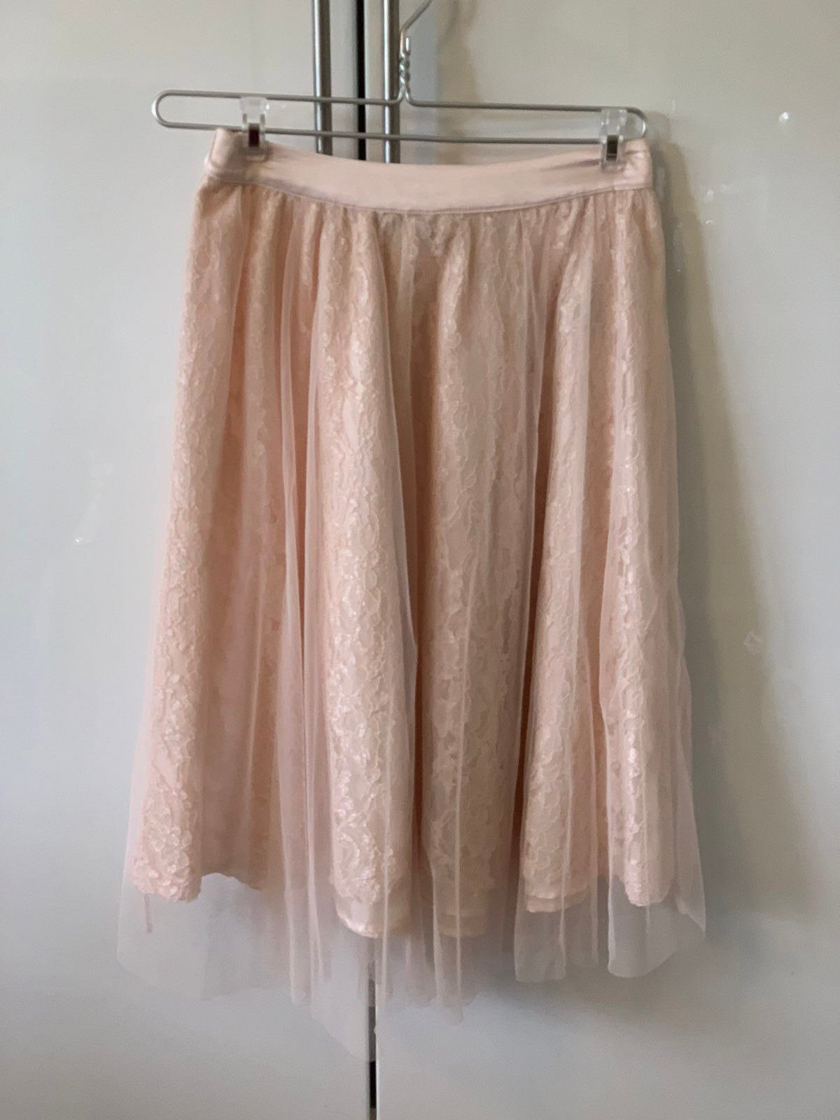 Forever 21 Pink Tulle lace skirt pleated