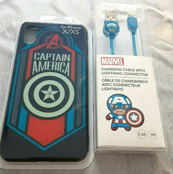 Captain America iPhone X Case & Charger