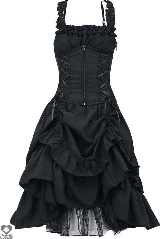 Poizen Industries Black Corset Dress