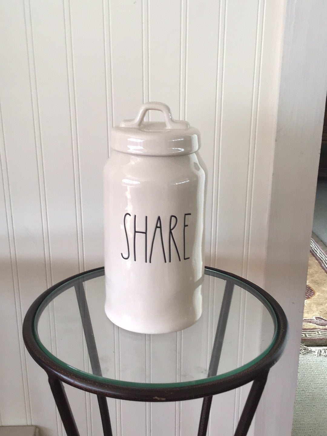 "New! Rae Dunn ""Share"" Cannister"