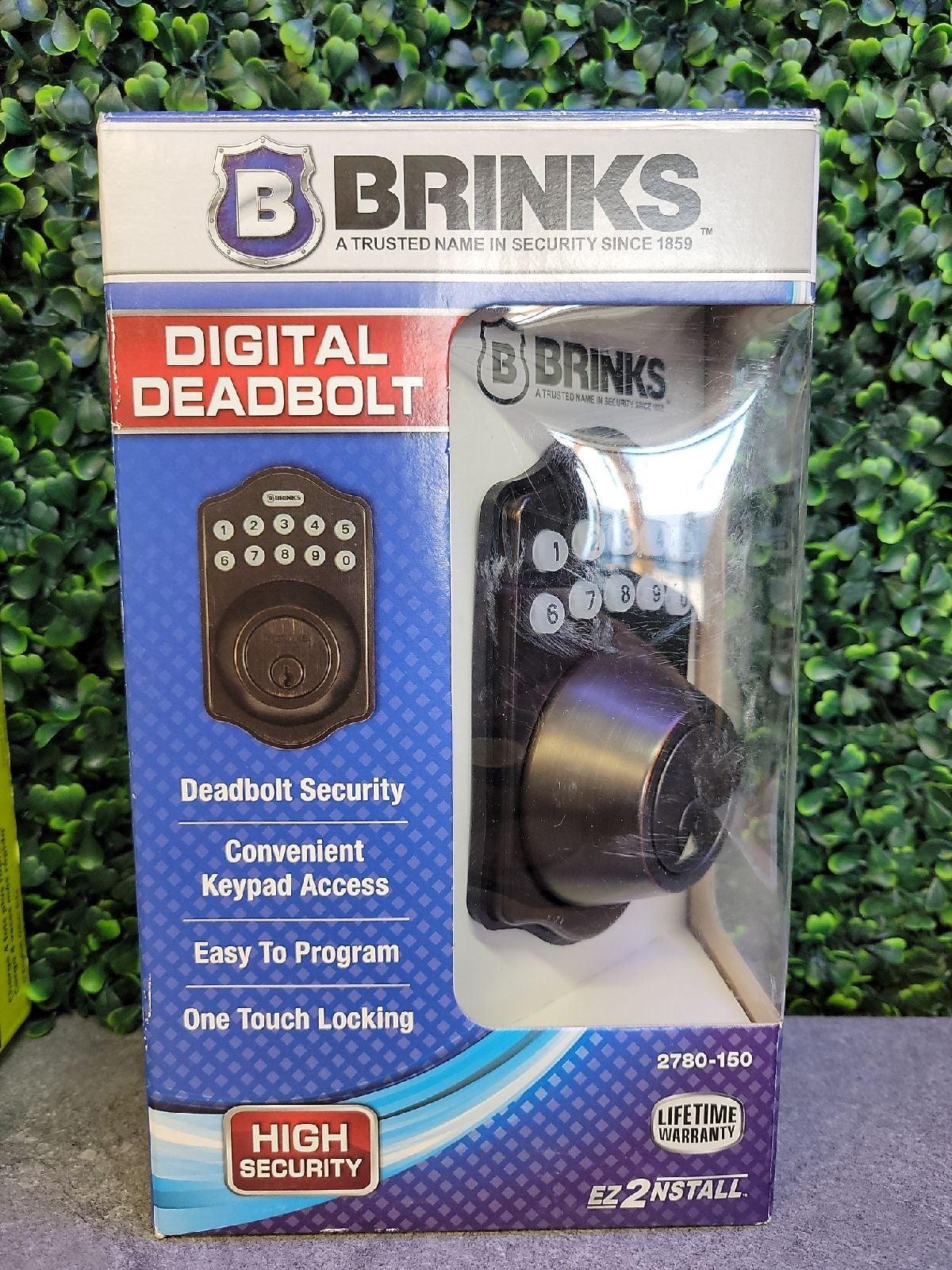 Brinks Digital Deadbolt NWT