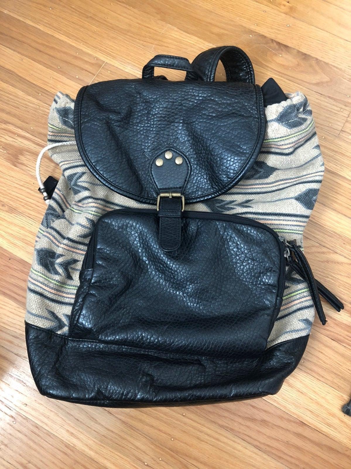 billabong tribal print backpack
