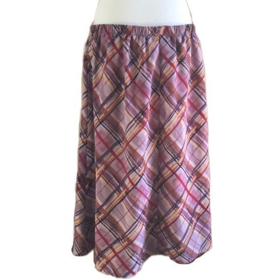 Sz2x Susan Graver Crosshatch Full Skirt