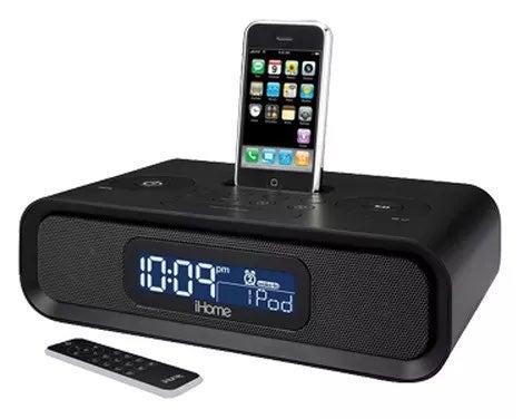 iHome iP99B AM/FM Dual Alarm Clock Radio