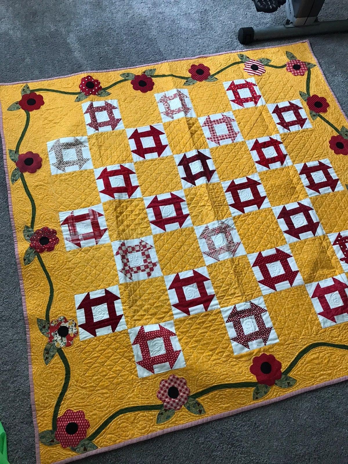 Churn Dash quilt hand crafted