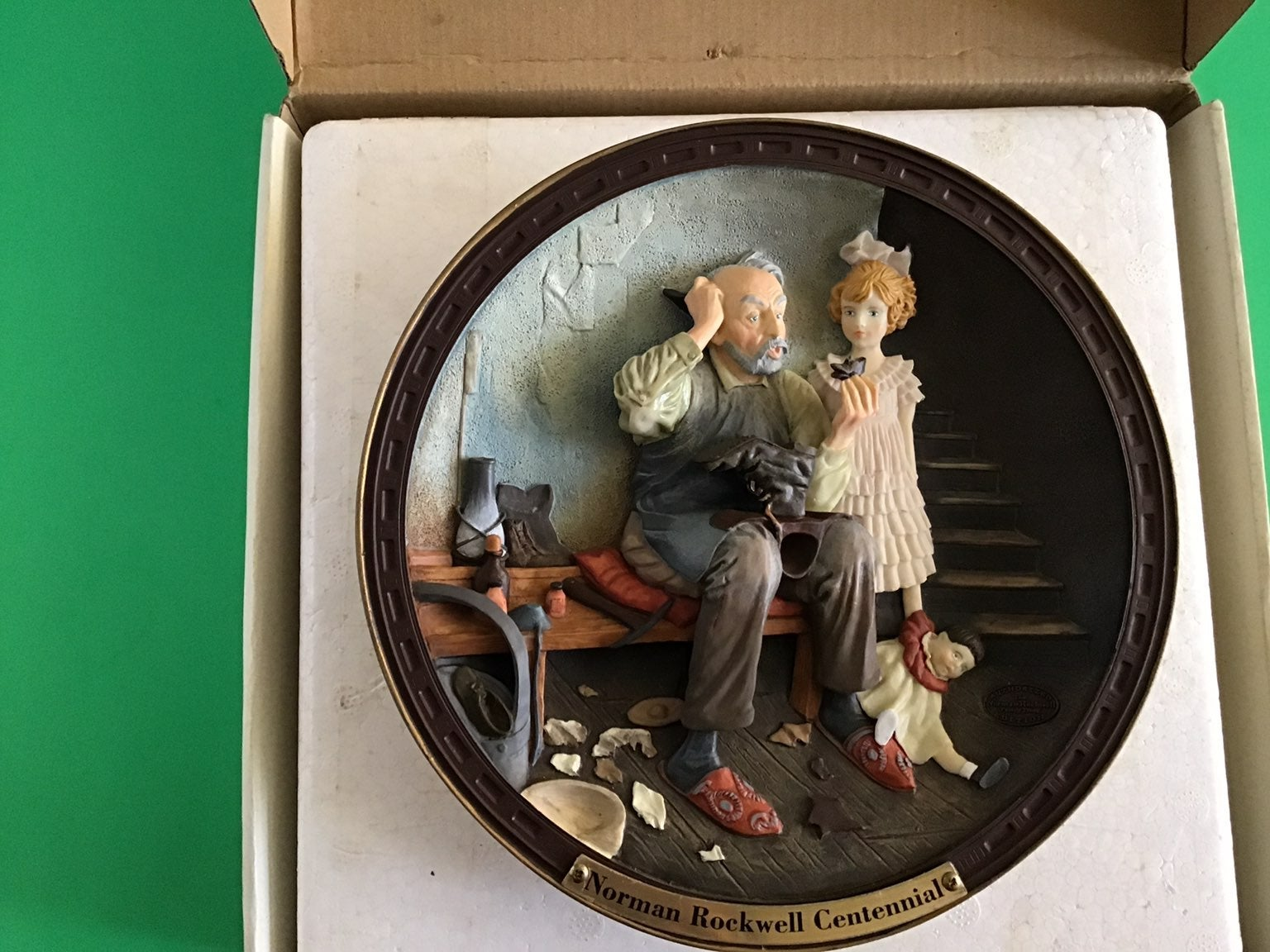 Norman Rockwell Gallery Plate 3D Cobbler