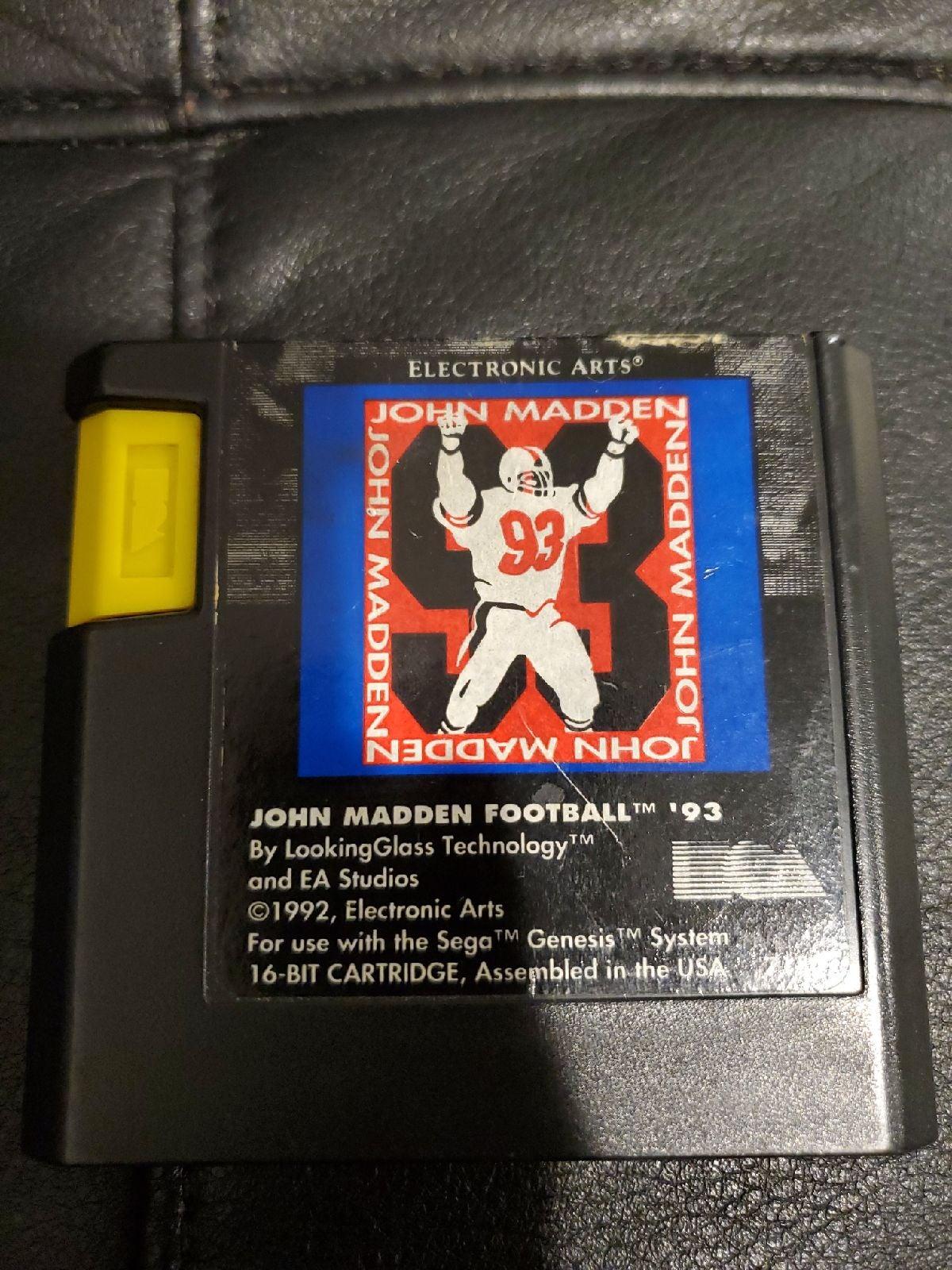 John Madden Football 93 Sega Genesis