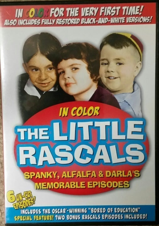 The LITTLE RASCALS - B&W and color (DVD)