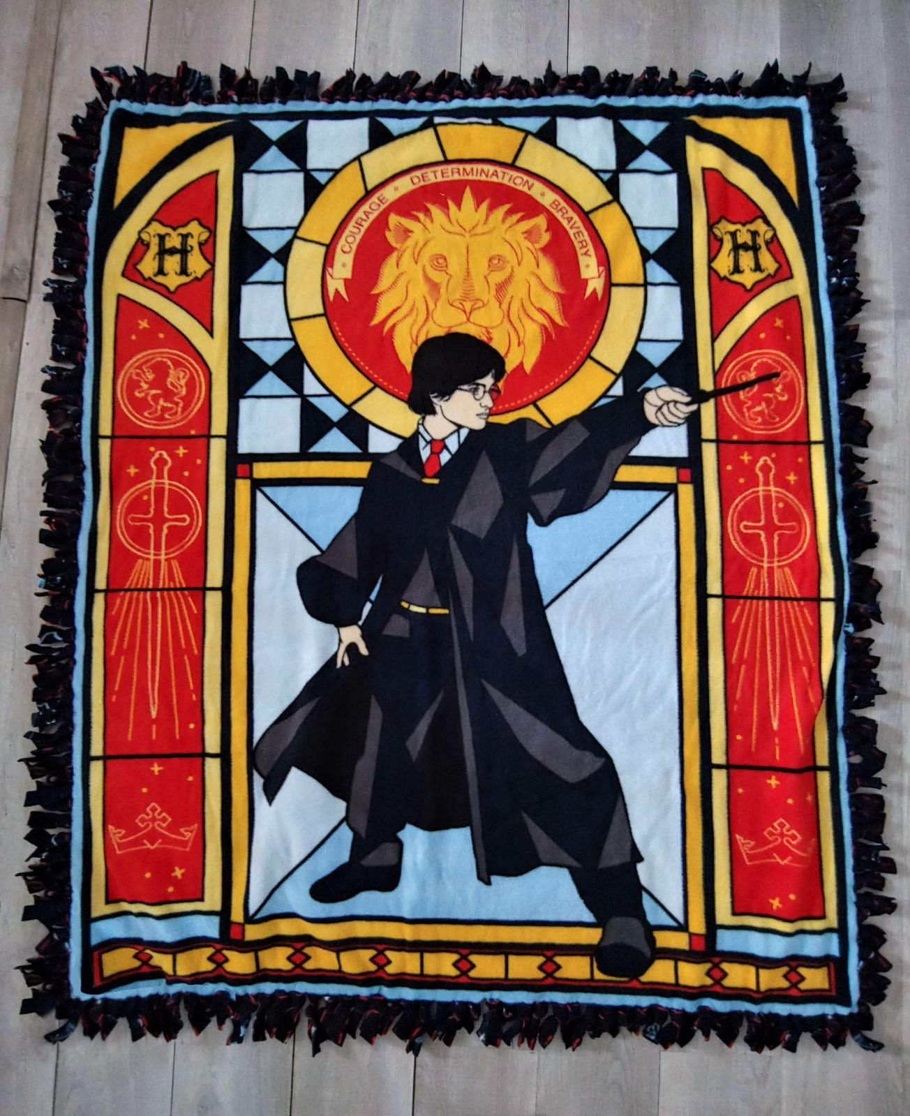 Harry Potter hand tied fleece blanket