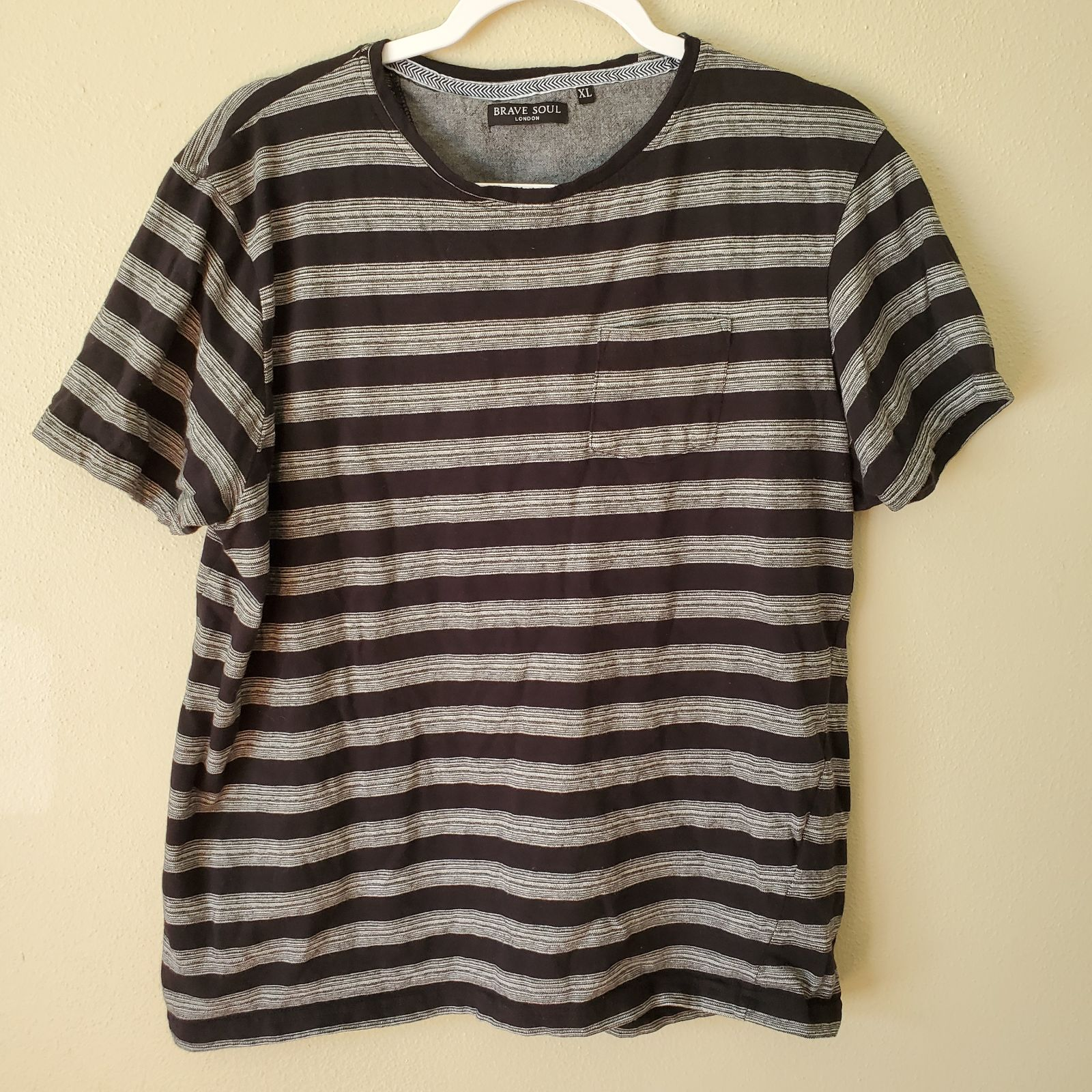 Brave Soul London Striped T Shirt XL
