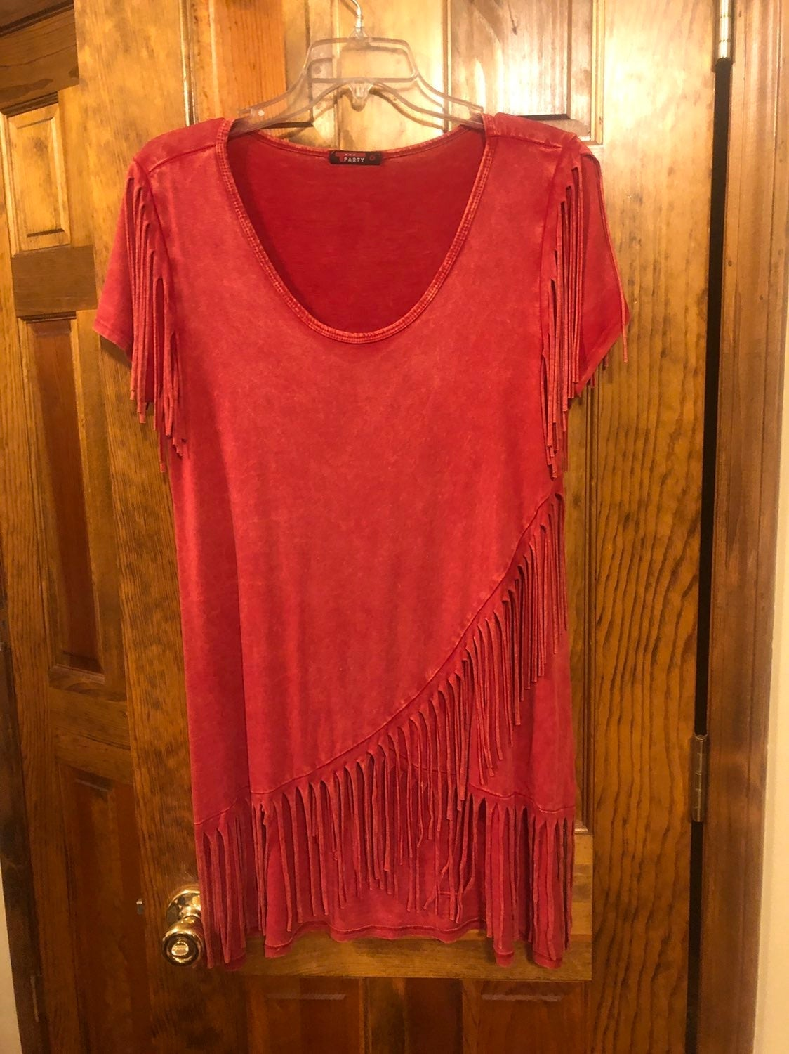T-Party Red fringe boutique top