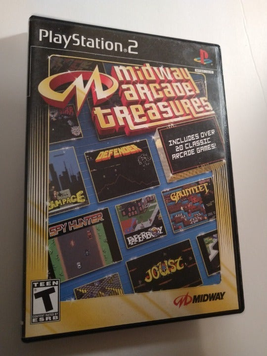 Midway Arcade Treasures   - PlayStation 2 PS2 Game - Tested