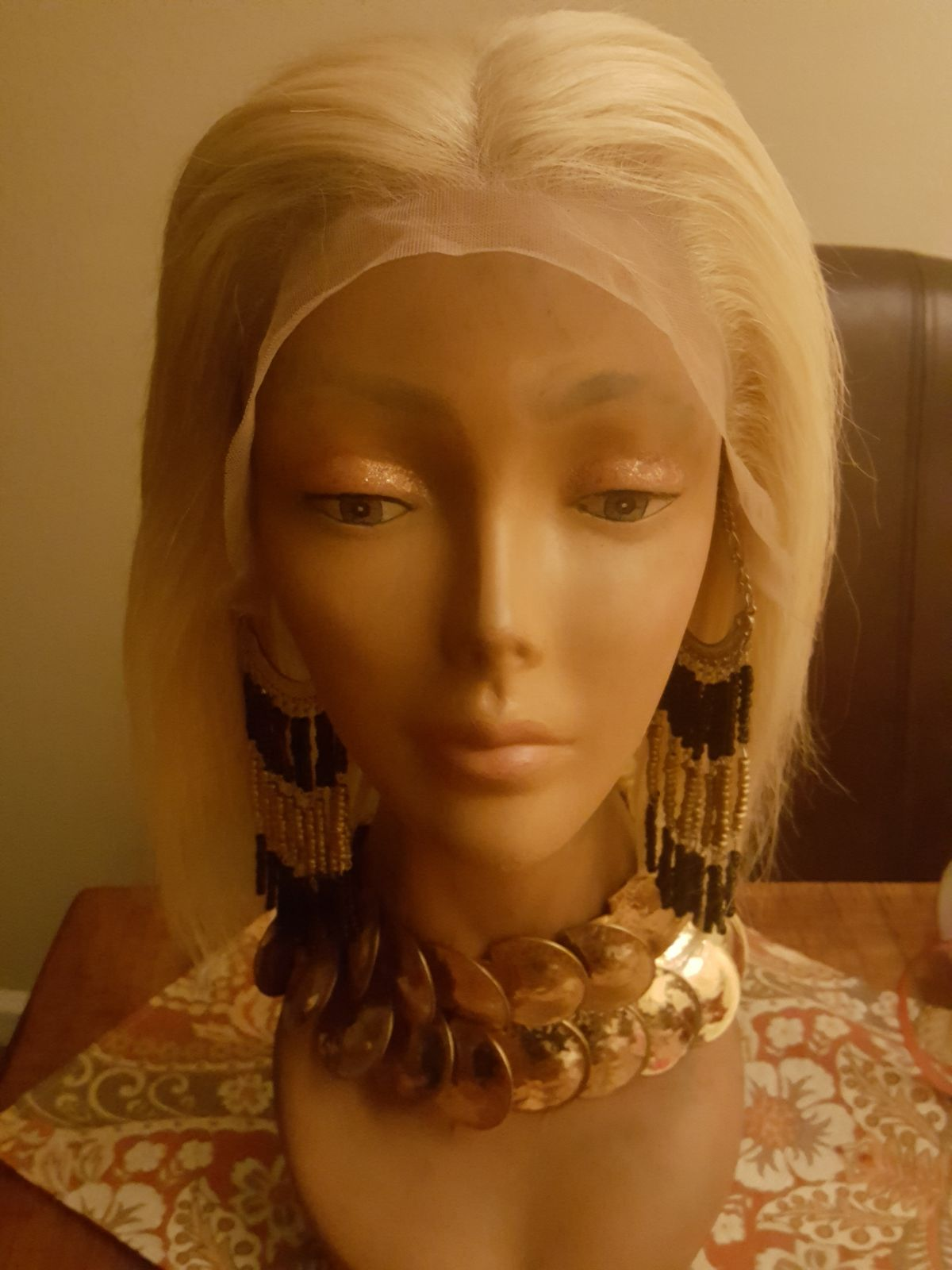 613 Bob 10in Layer Human Hair Wig