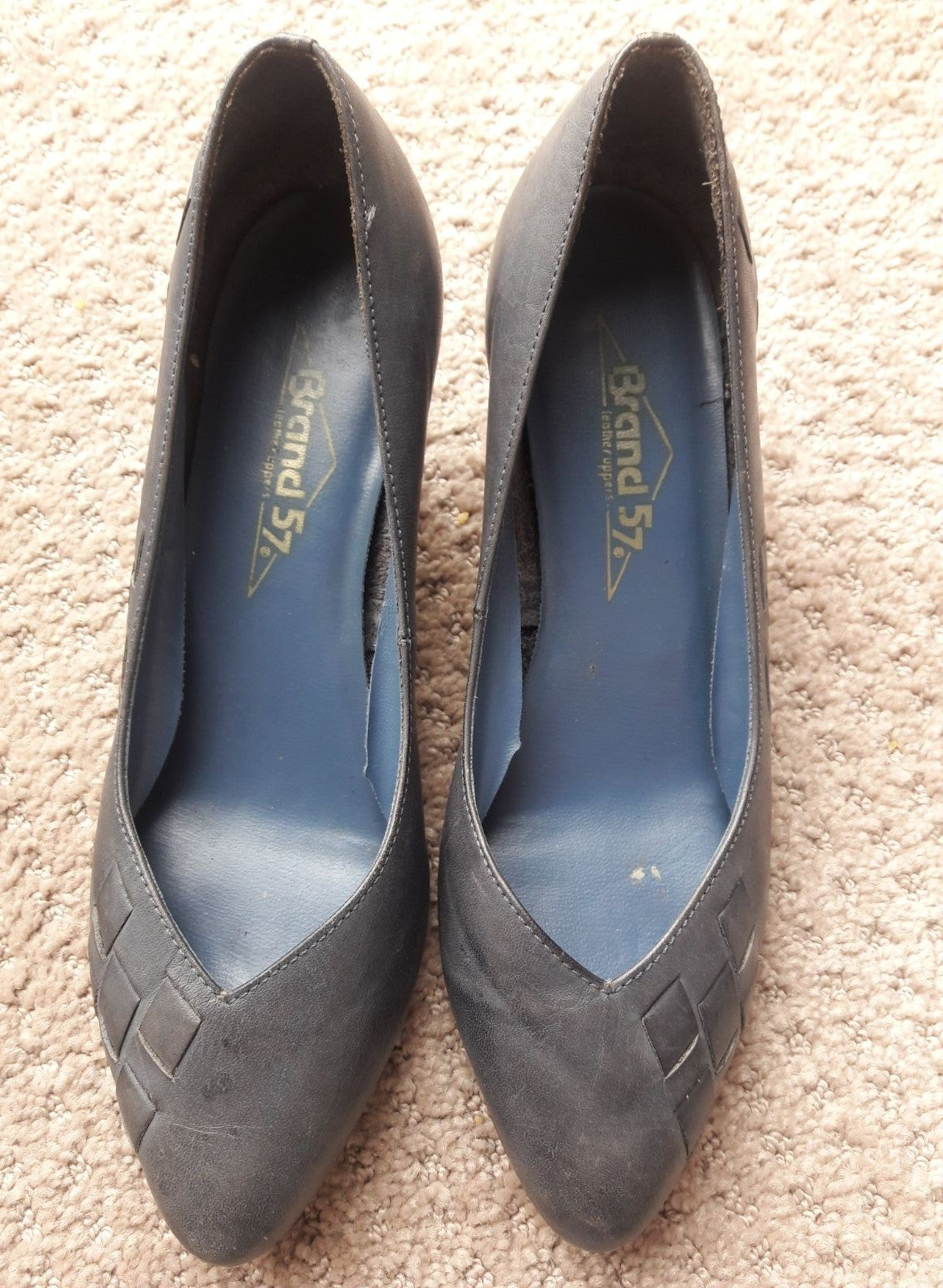 Shoes women Leather pump heels 7 vintage
