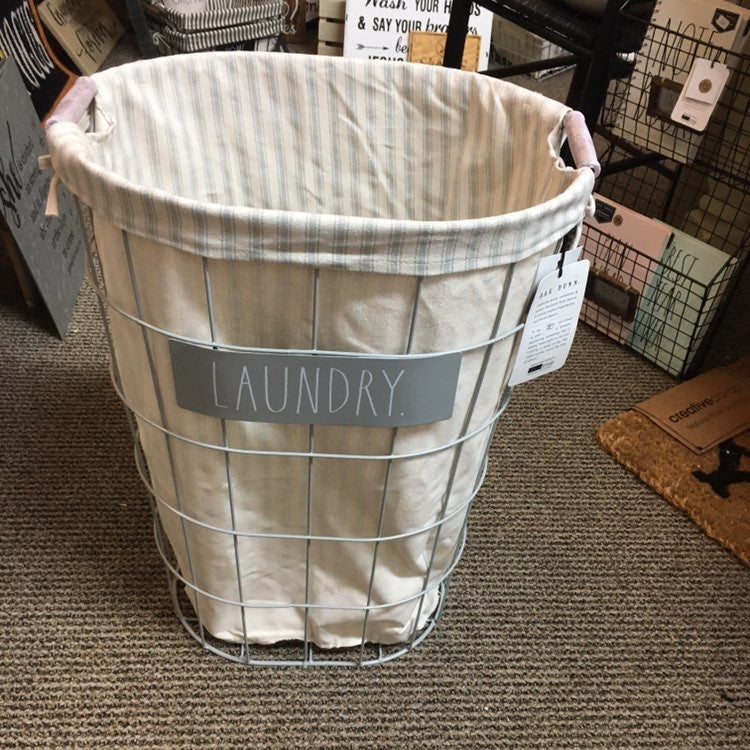 Rae dunn laundry wire basket hamper