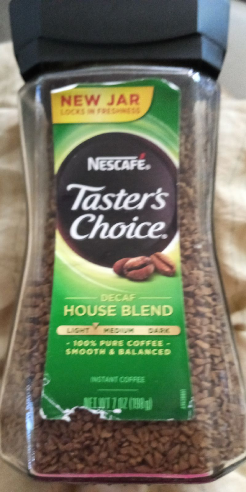 This is coffee its decaf . It was opened