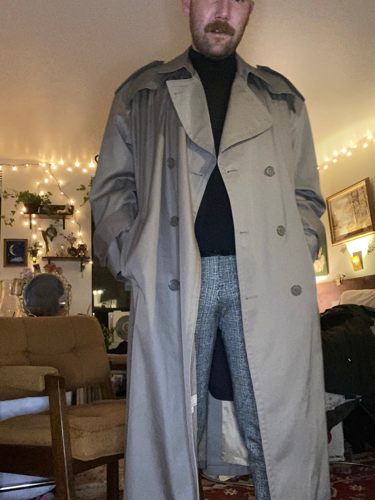 Dior trench coat sz large