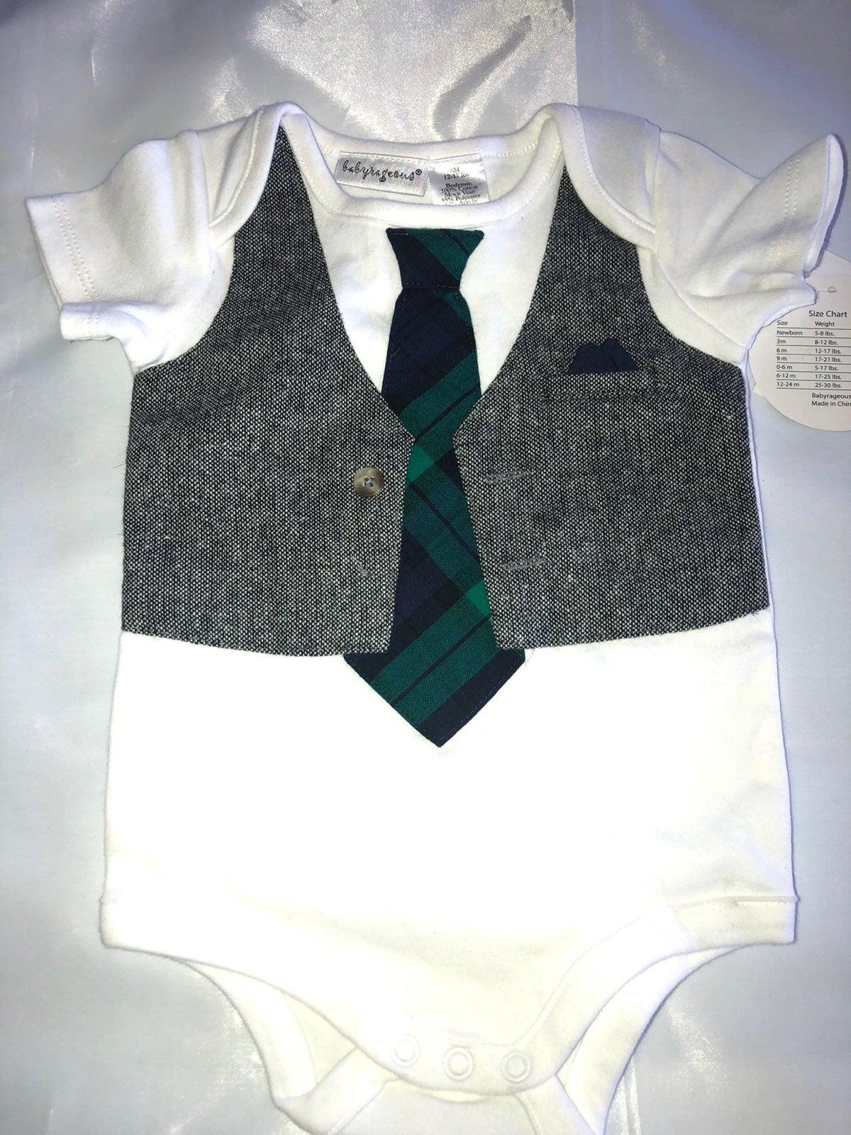 Baby Onesie With Tie And Vest