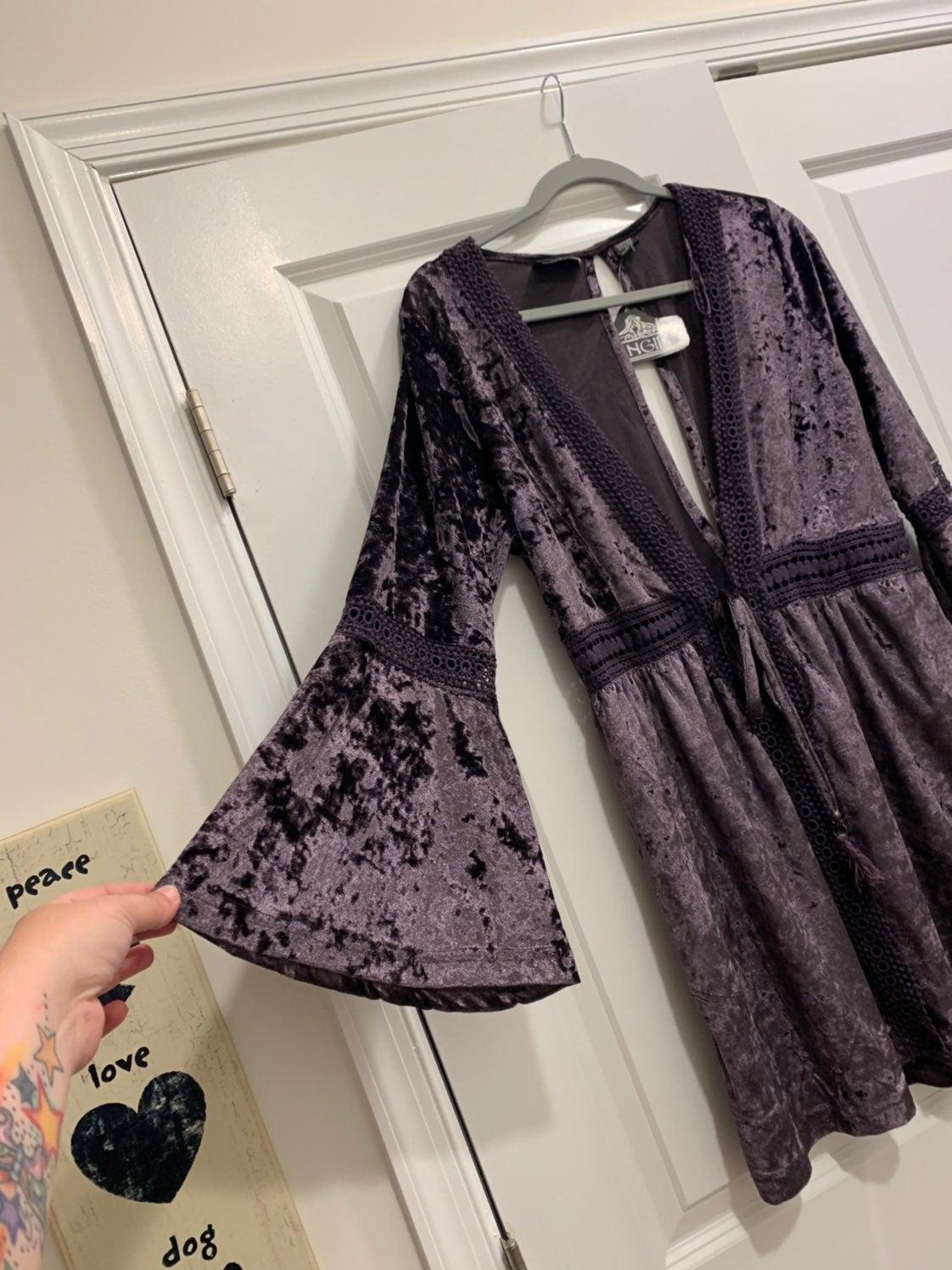 Purple velvet colored cardigan