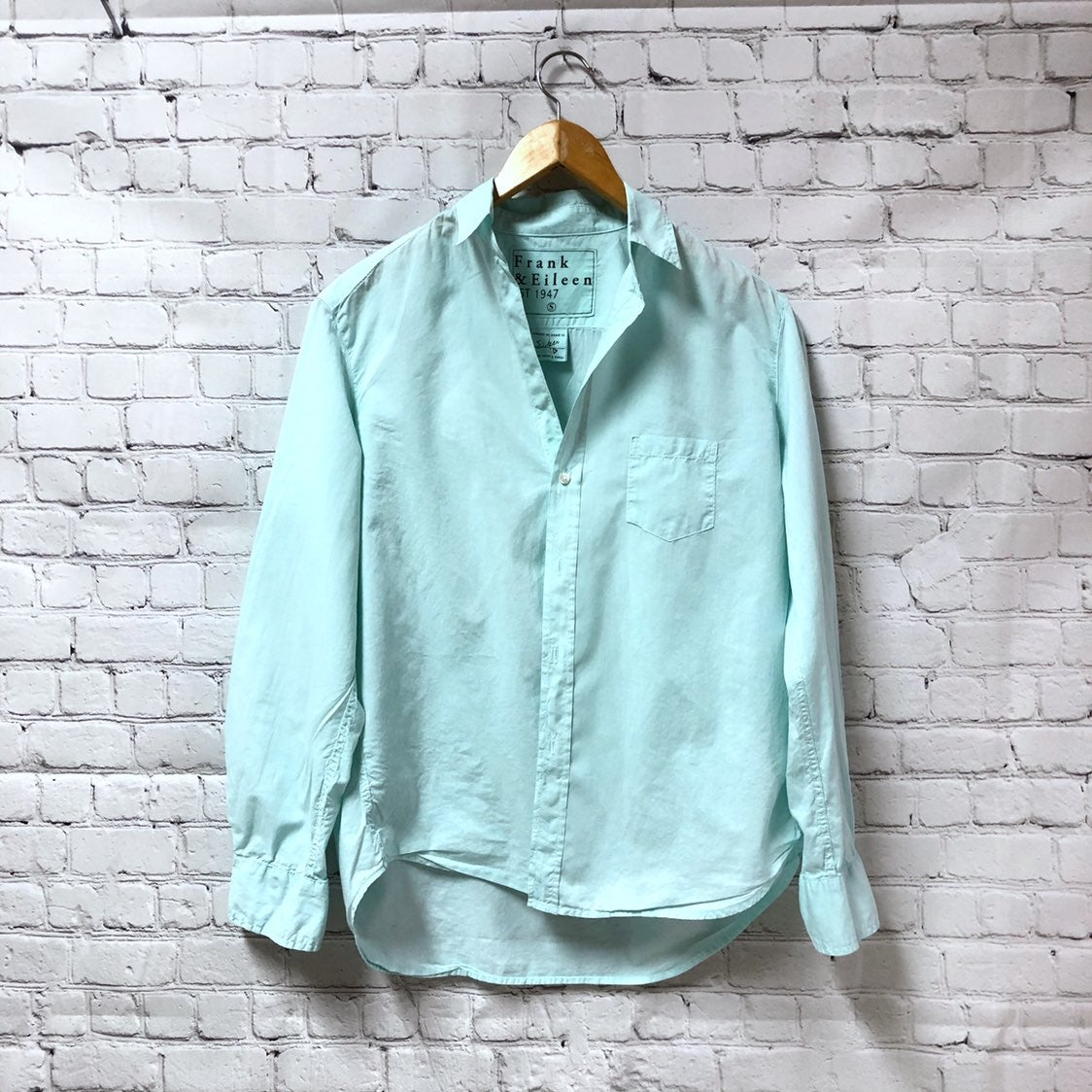 Frank and Eileen Teal Green Button Down