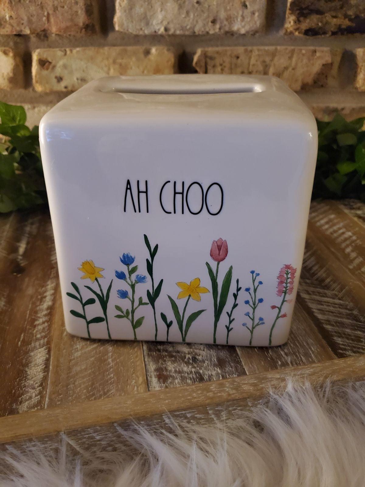 Rae Dunn AH CHOO Tissue Box