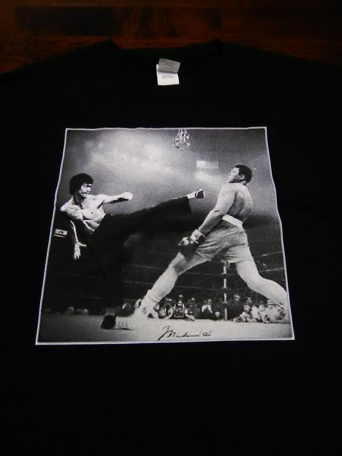 New Men's Lrg Bruce Lee & Muhammad Ali