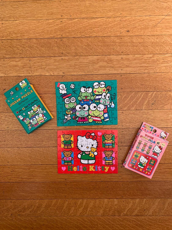 Vintage 1993 Hello Kitty Keroppi Puzzles