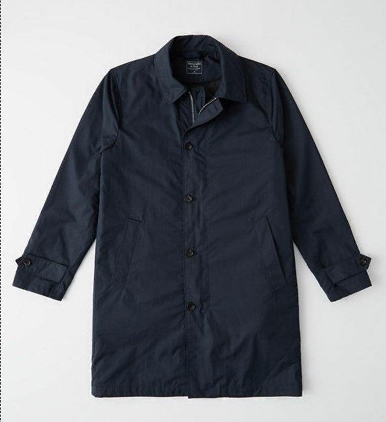 Abercrombie Navy coat size XL