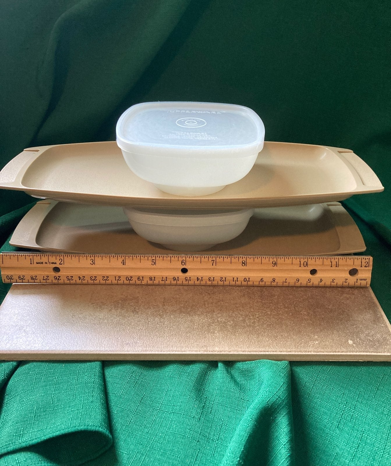 RARE*Vintage Tupperware Servette Trays