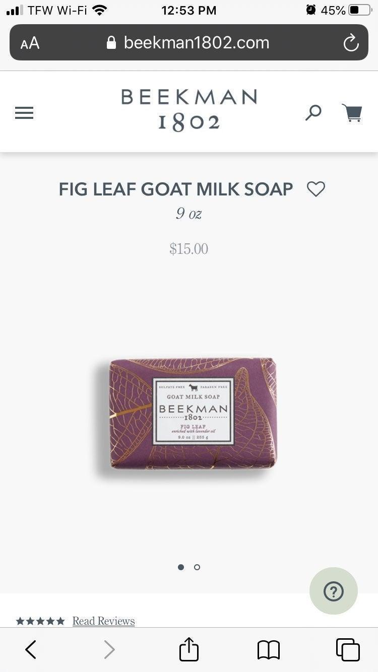 3.5 oz Fig Leaf Beekman 1802 Soap