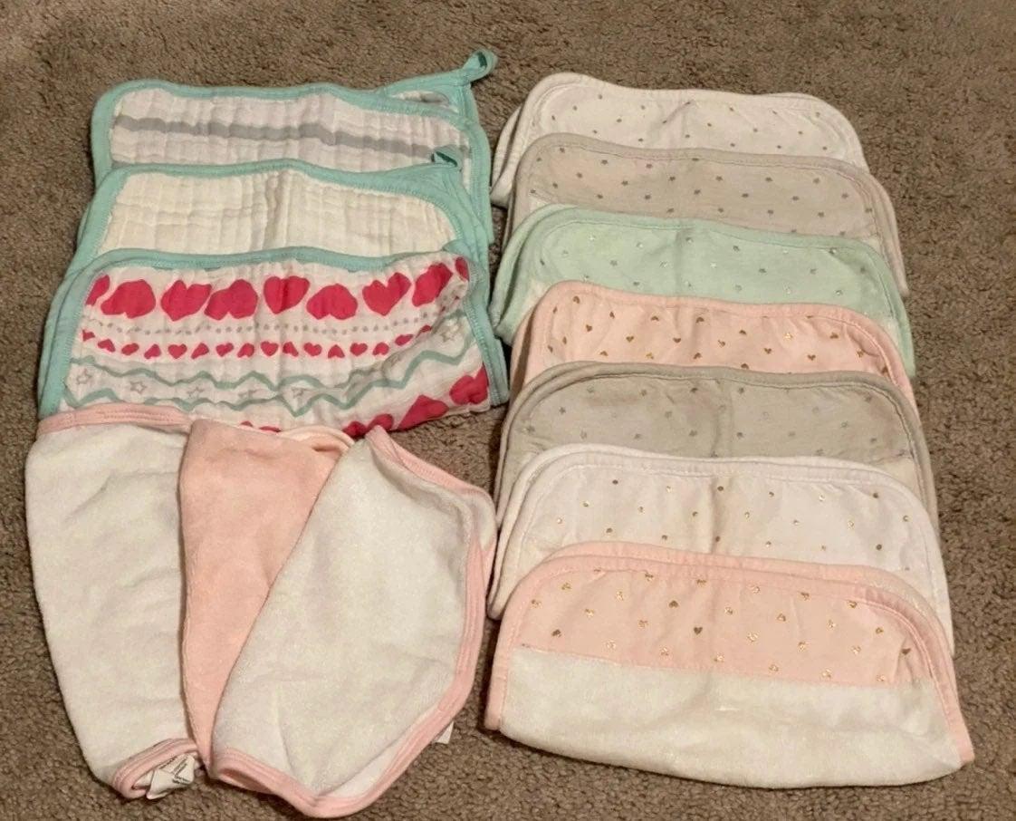 Baby Girl Wash Cloth Lot