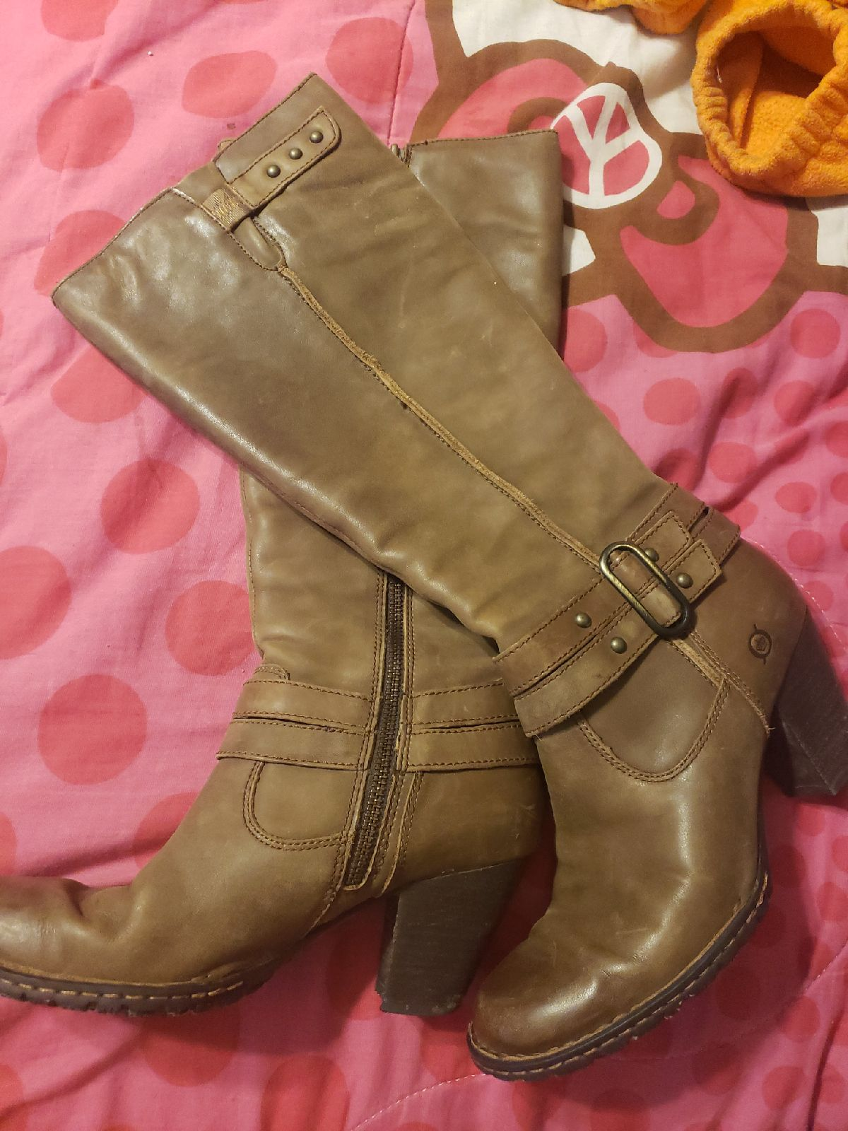 Born leather knee high boots 7 1/2