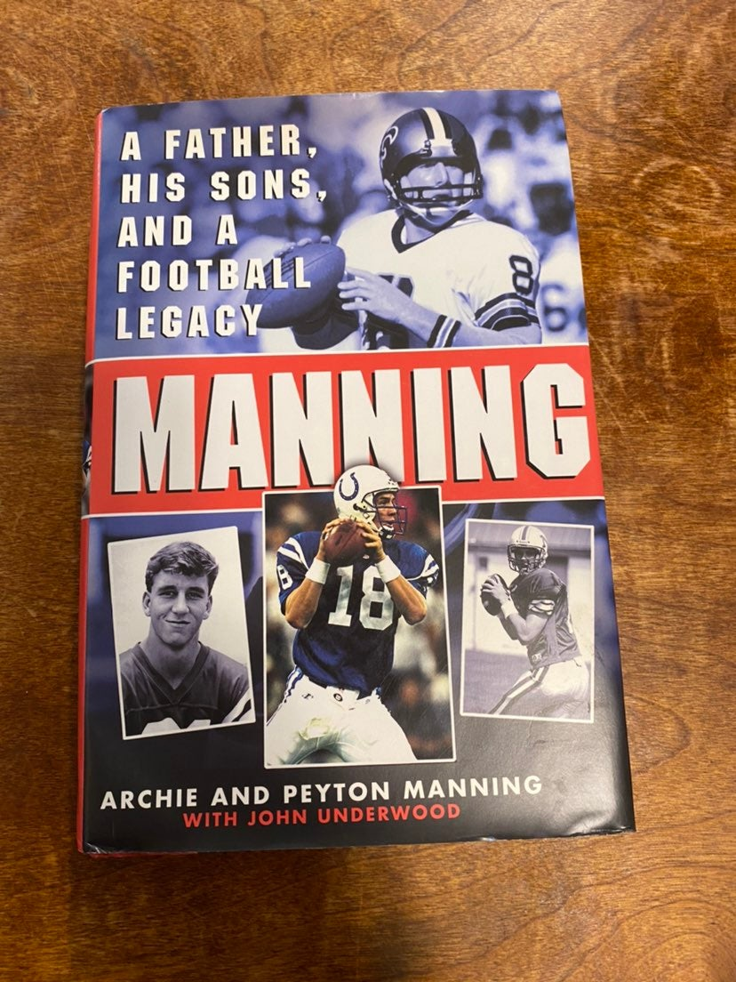 Archie and Peyton Manning Signed Book