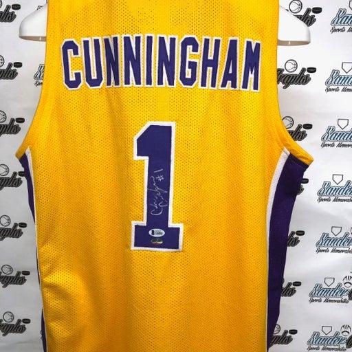 Cade Cunningham autographed jersey BAS