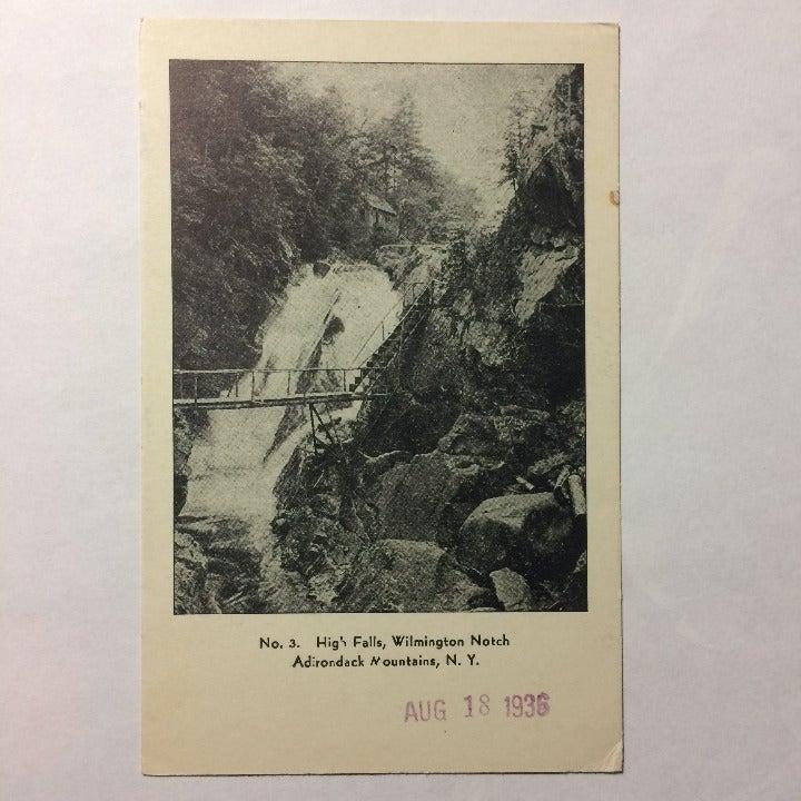 Adirondack Mt NY 1936 Vtg Postcard