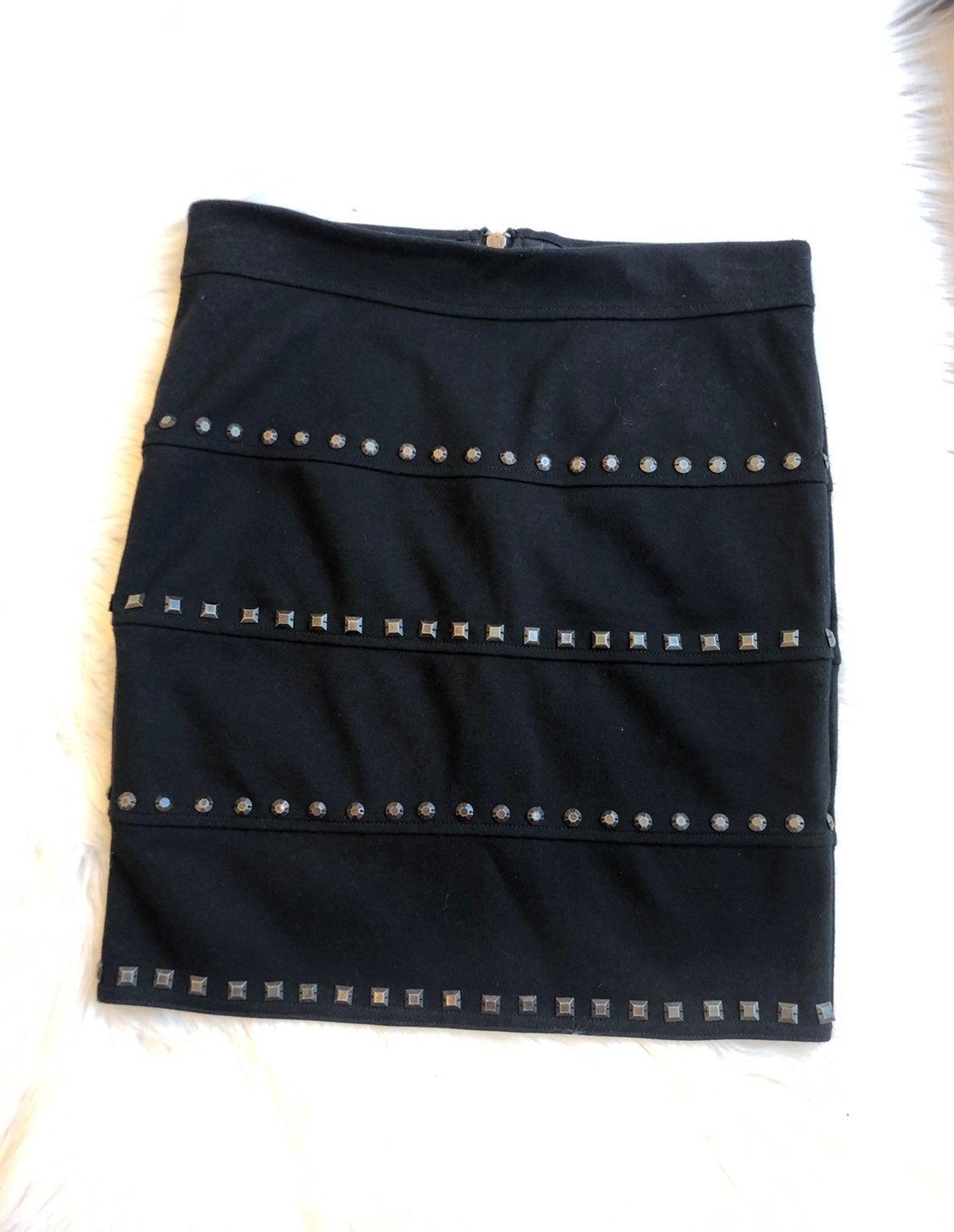 NWOT Candie's Studded Black Skirt