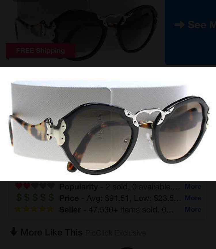 Prada Spr09T tortoise sunglasses