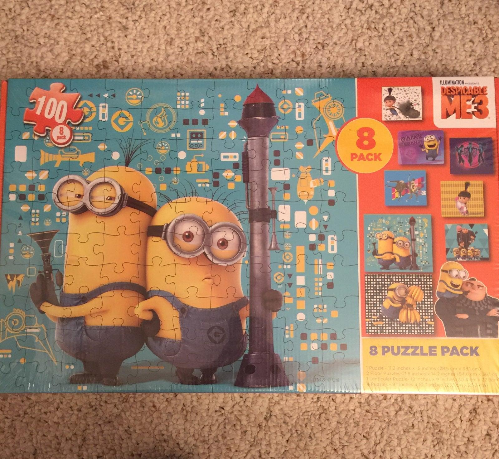 Despicable Me 3 Puzzle 8 Pack