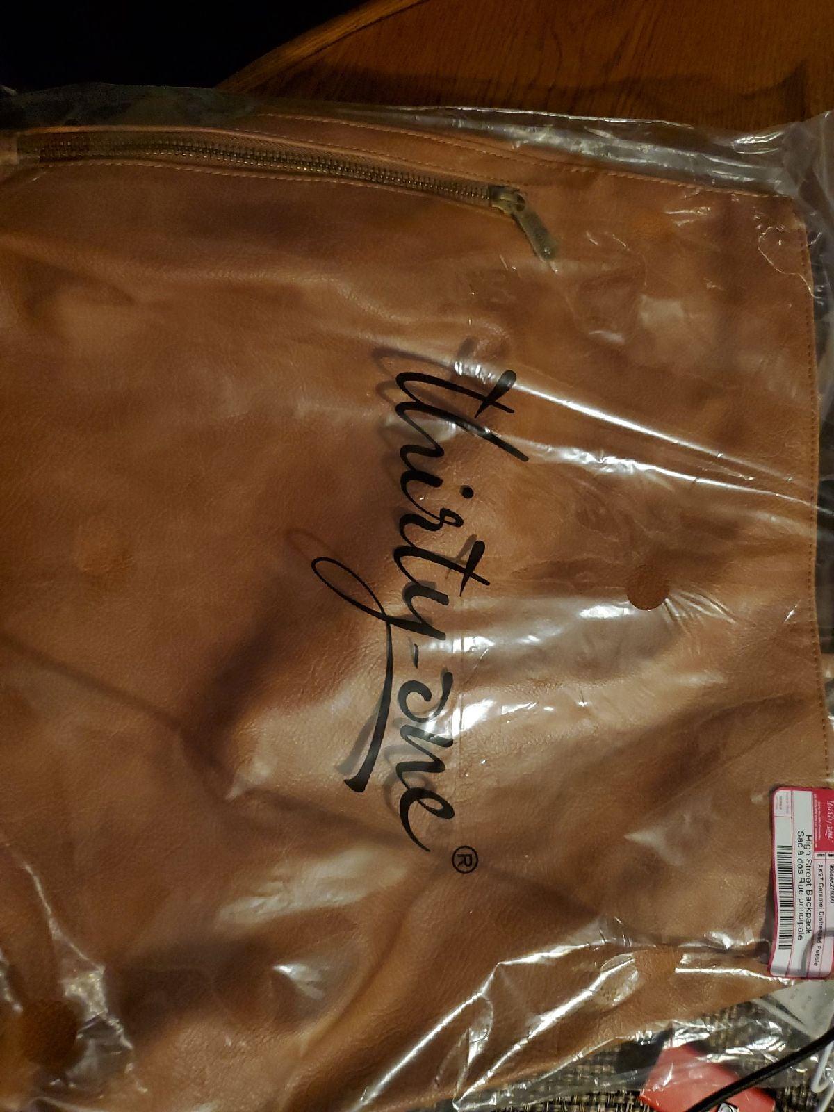 High Street Backpack Caramel Distressed