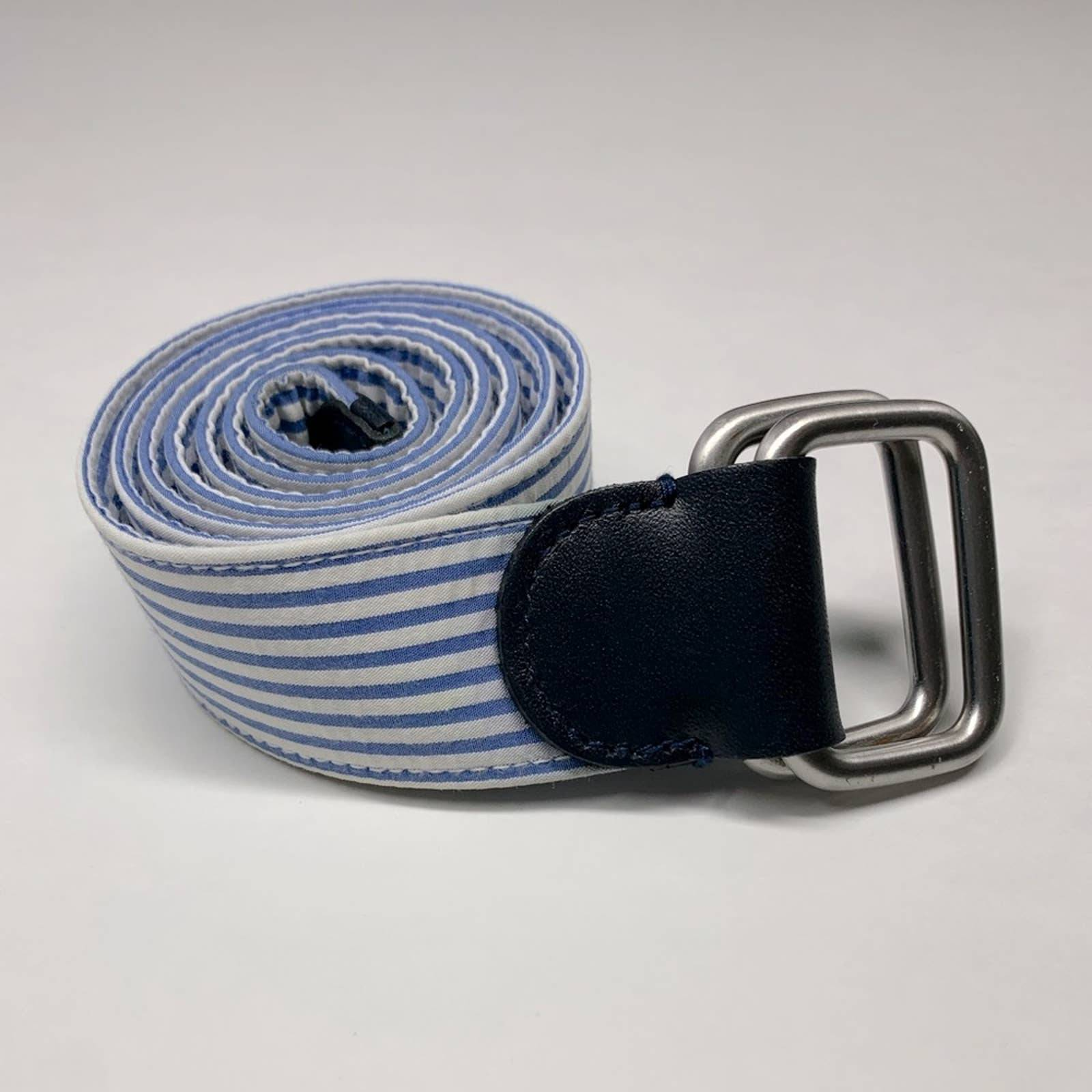 Brooks Brothers seersucker belt- size S