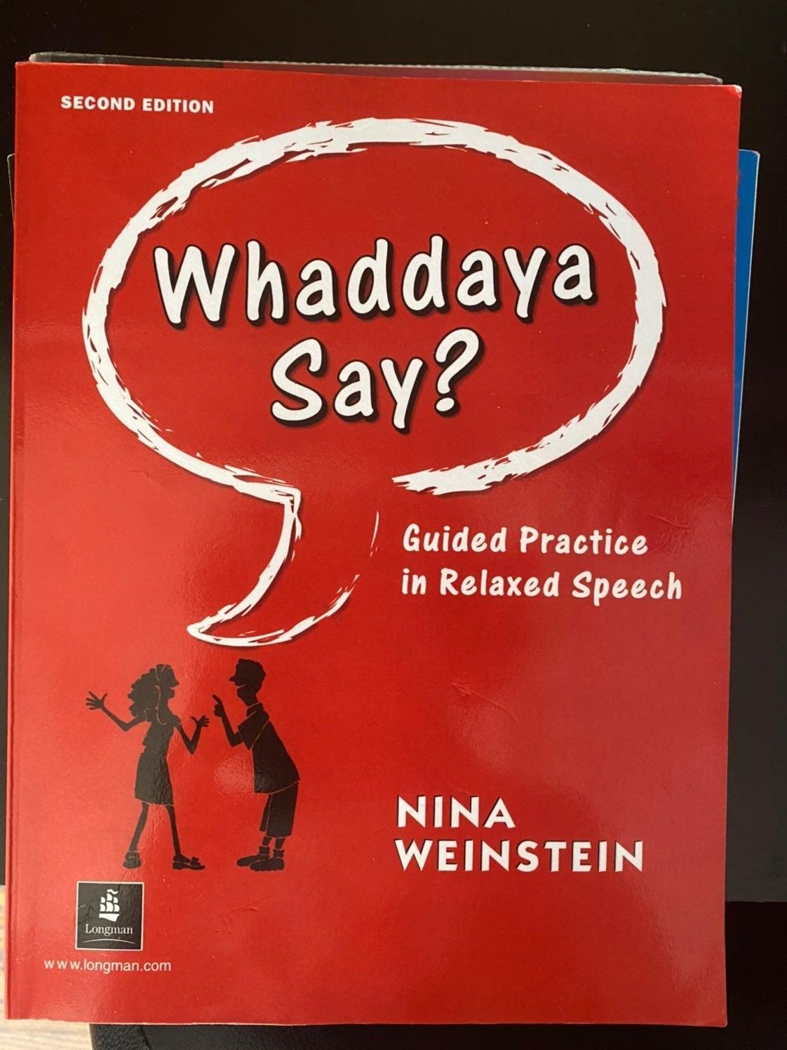 Whadaya say ?