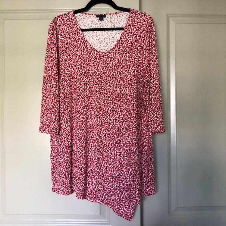 J. Jill asymmetrical hem tunic